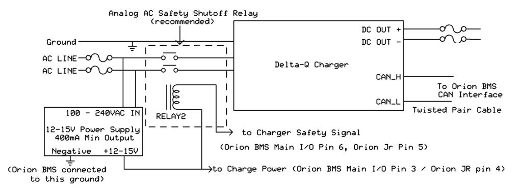 [DIAGRAM_3US]  Interfacing with Delta-Q IC Series Chargers | Orion Li-Ion Battery  Management System | Delta Q Charger Wiring Diagram |  | Orion BMS